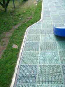 concrete kerb playground edge