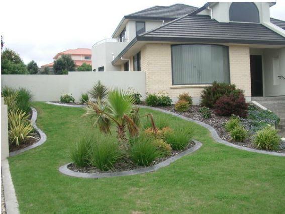 concrete kerb garden